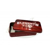 Elements Red Metal Tin Case
