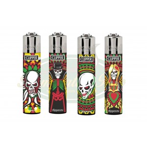 Isqueiro Clipper Skulls Angels - Grande